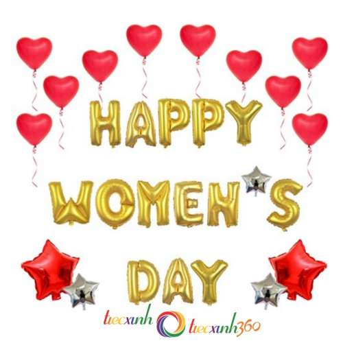 BỘ BONG BÓNG HAPPY WOMEN DAY