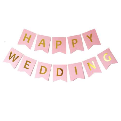 Dây treo Banner Happy Wedding
